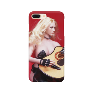 FUCHSGOLDのドール写真:ギターを弾くブロンドの美少女 Doll picture: Blonde girl plays a guitar Smartphone cases