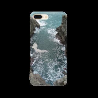 kanonの崖 荒波 海岸 Smartphone cases
