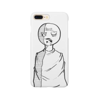 欲張り丸顔君 Smartphone cases