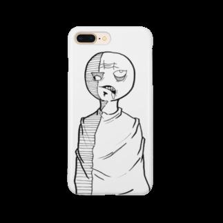 takugalballの欲張り丸顔君 Smartphone cases