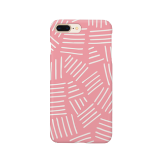 SANKAKU DESIGN STOREの不揃いアミアミ PINK。 Smartphone cases