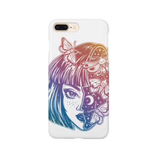RedMoonのgirl knows the world Smartphone cases