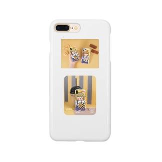 女の子の飲む イラスト かわいいiPhone 11/XSケース Smartphone cases
