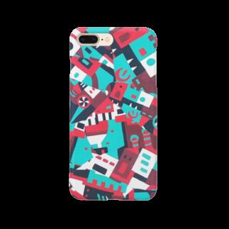 えぬあみのごちゃ模様スマホケース Smartphone cases