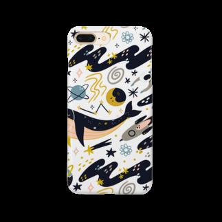 SANKAKU DESIGN STOREの朝の宇宙海遊ツアー。 Smartphone cases