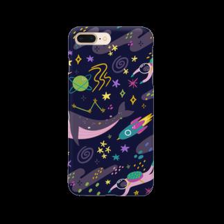 SANKAKU DESIGN STOREの夜の宇宙海遊ツアー。 Smartphone cases
