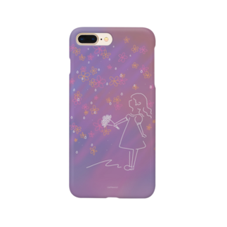 cashewnütの華が降る夜の女の子 Smartphone cases