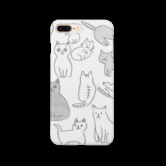 ginganoyoruのネコいっぱい Smartphone cases