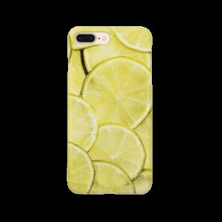 フラミンゴ洋裁店のライム Smartphone cases