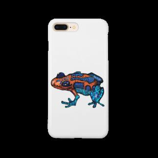 ZENART(ゼンアート)の毒々しいかえるちゃん ドクエル Smartphone cases