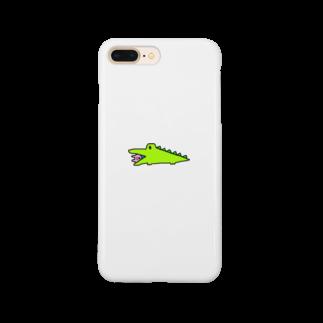 はむこストアのワニコさん(うさぎ入り) Smartphone cases