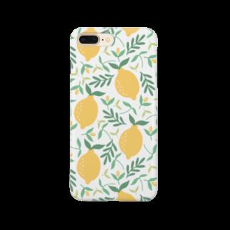 SANKAKU DESIGN STOREの北欧風レモン詰め合わせmini。 Smartphone cases