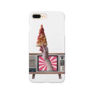 テレビからピザ Smartphone cases