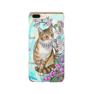 Atelier Heureuxの春の花々と猫 Fiori di PrimaveraⅡ Smartphone cases