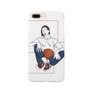 バスケ女子 Smartphone cases