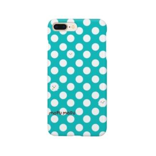 サブリミナルモフモフ・ブルー Smartphone cases
