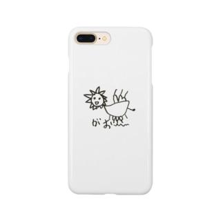 長男の絵 ライオン Smartphone cases