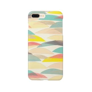 カラフル波模様 Smartphone cases