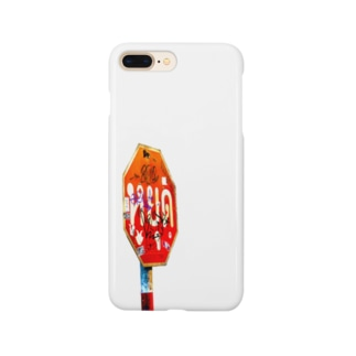 タイ語「止まれ」標識(斜) Smartphone cases