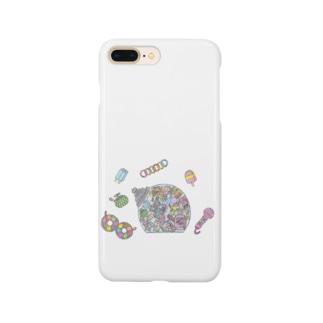 小腹がへった! Smartphone cases
