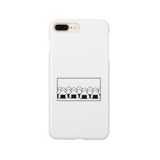 おにぎりの大群(枠あり) Smartphone cases