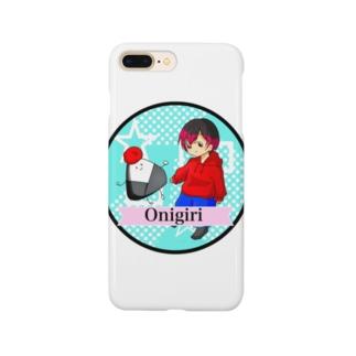 梅おにぎり スマホケース Smartphone cases