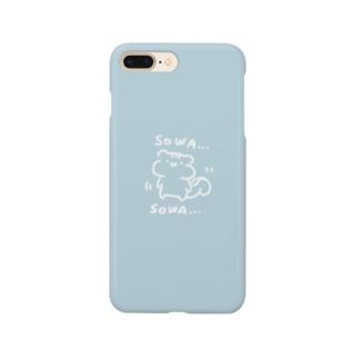 そわそわするリス Smartphone cases