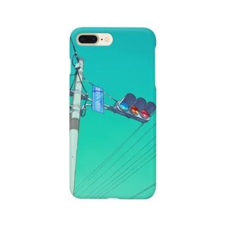 信号機とソーダ空 Smartphone cases