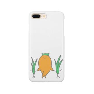 人参と愉快な草 Smartphone cases