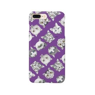 NEKOS パンジーパープル/スマホケース Smartphone cases