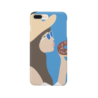 Donut on the beach Smartphone cases
