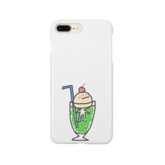 クリームソーダからの脱出を試みるアイス Smartphone cases