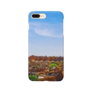 城壁のある街 Smartphone cases
