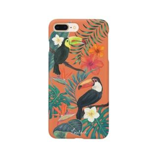 hawaii トロピカル総柄iPhoneケース Smartphone cases