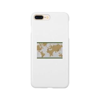 レトロな世界地図 Smartphone cases