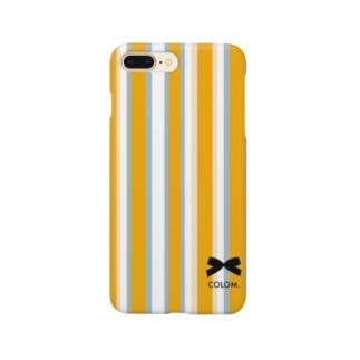 【COLOM.コロ。】リボン!ロゴデザイン.人気グッズ!ドット水玉りぼん Smartphone cases