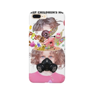 「LET'S ENDURE NOW TO KEEP CHILDREN'S HOPES」 Smartphone cases