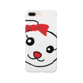 うさちゃんのお顔 Smartphone cases
