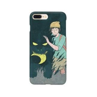 少年と月 Smartphone cases