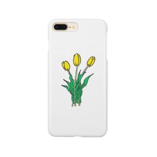 黄色のチューリップ Smartphone cases
