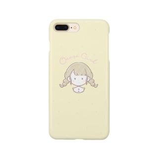 おさげの女の子のスマホケース Smartphone cases