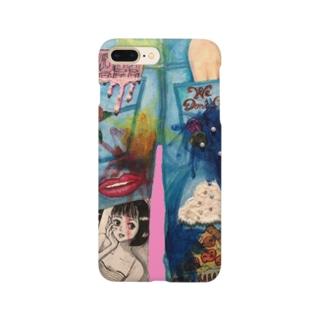 80'sジーンズイラスト Smartphone cases