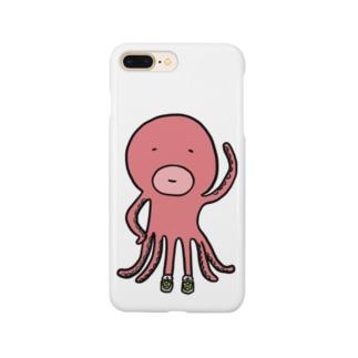 スニーカー好きのタコ Smartphone cases
