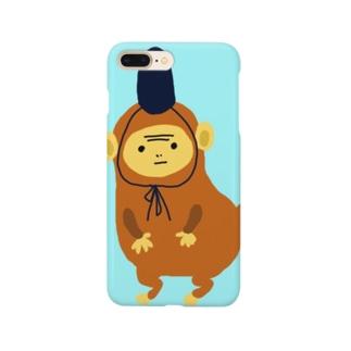 猿に烏帽子 Smartphone cases