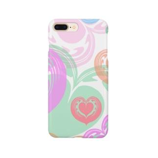 【ラテアート】カラフルハート Smartphone cases