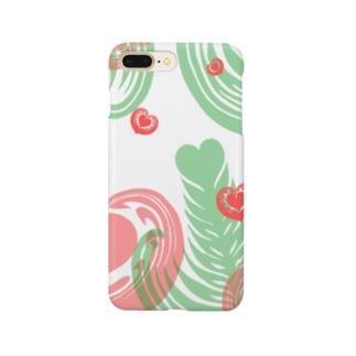 【ラテアート】レイヤーラテアート/レッドグリーン Smartphone cases