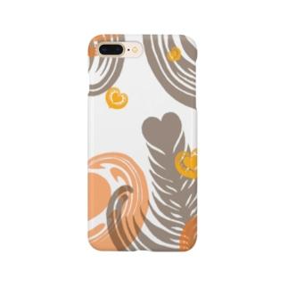 【ラテアート】レイヤーラテアート/オレンジブラウン Smartphone cases