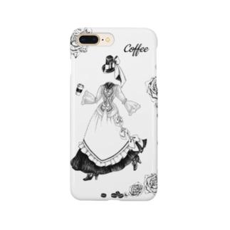 【Lady's sweet coffee】コーヒー Smartphone cases