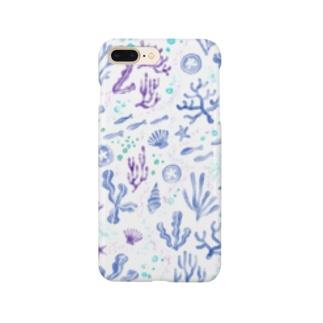【深い海の楽園】珊瑚と魚と貝とヒトデ Smartphone cases