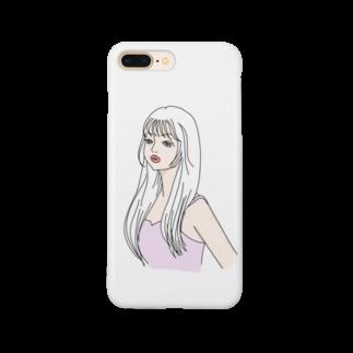 Rのピンクのキャミ女子 Smartphone cases